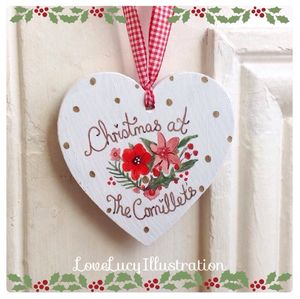 Personalised Floral Christmas Decoration - personalised