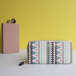 Personalised Geometric Aztec Purse Wallet - bags & purses