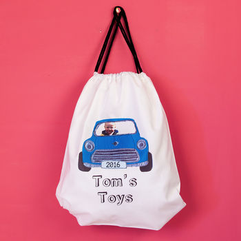 Your Child In A Vehicle Drawstring Bag