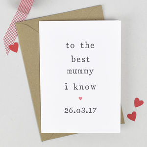 'To The Best' Mother's Day Card - summer sale