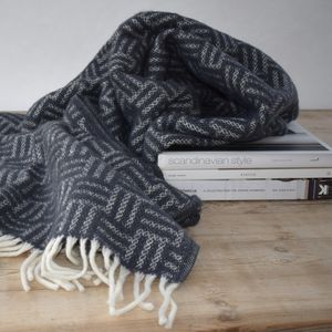 Scandanavian Lambs Wool Charcoal Throw