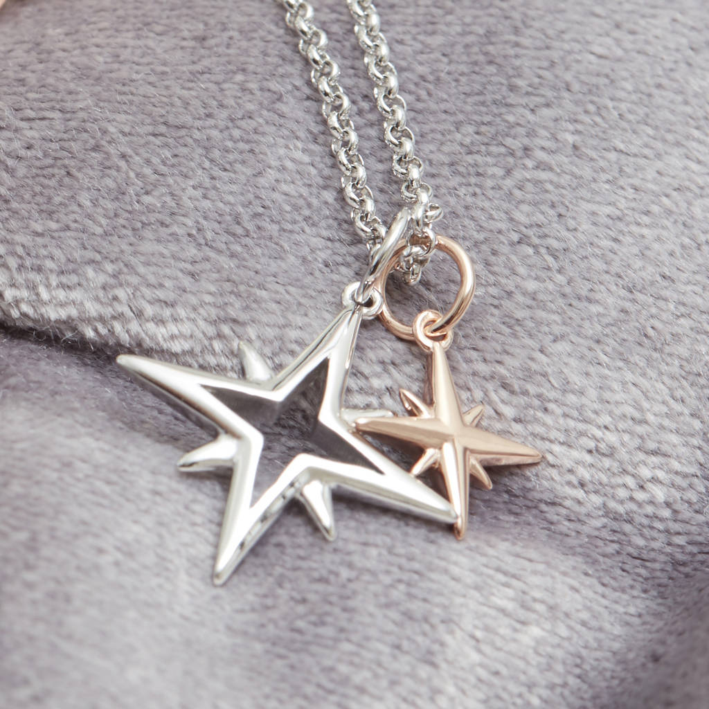 Mother And Child My Little Star Charm Necklace