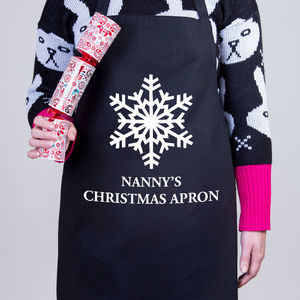 Snowflake Christmas Personalised Apron - kitchen accessories