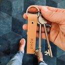 Personalised Embossed Leather Roller Keyring