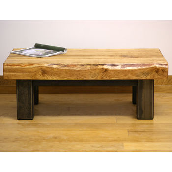 Oak And Iron Coffee Table