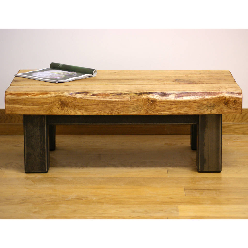 Unique oak coffee tables oak and iron coffee table furniture geotapseo Choice Image