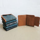 Handwoven Cotton Hansa Leather Trim Wallet