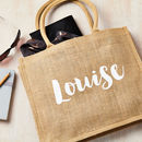 Personalised Name Shimmer Shopping Bag