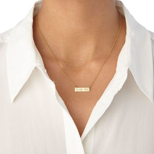 Personalised 18ct Gold Nameplate Plaque Necklace - necklaces & pendants