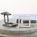 Geometric square frame cufflinks