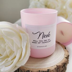 'Be My Maid Of Honour' Personalised Vegan Candle