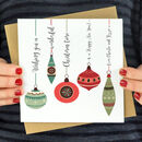 Personalised Vintage Bauble Cards