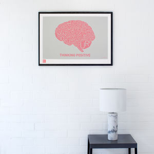 Thinking Positive Charity Print - posters & prints