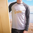 Personalised Long Sleeved Your Surfing Holiday Tee