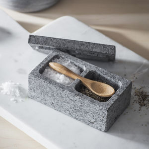 Granite Salt And Pepper Pinch Pot - dining room