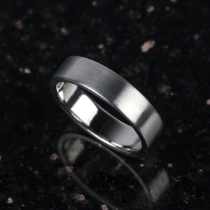 Palladium 6mm Wide Mens Ring - rings