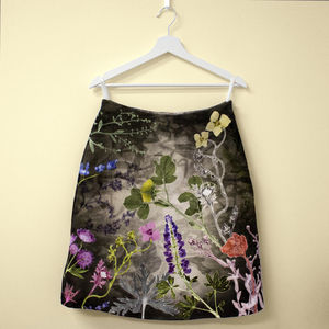 Personalised Handmade Wild Flower, Floral Pattern Skirt