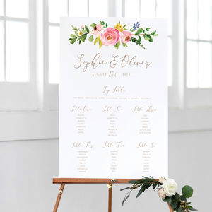 Blossom Wedding Table Plan - room decorations