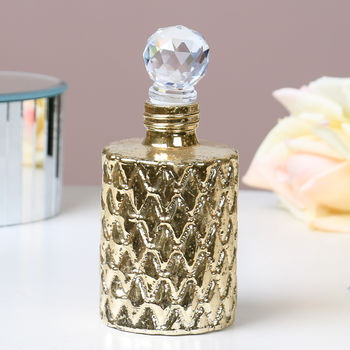 Gold Glass Distressed Dressing Table Perfume Bottle