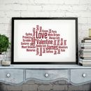 Personalised Word Cloud Print