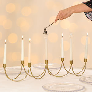 Golden Glamour Candle Holder Centerpiece - tableware