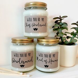 Be My Bridesmaid / Maid Of Honour Proposal Candle - be my bridesmaid