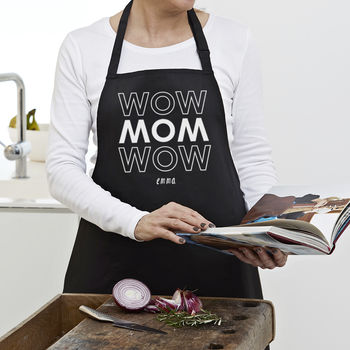 Personalised 'Wow Mom Wow' Apron