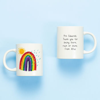 Rainbow Personalised Teacher Mug Gift