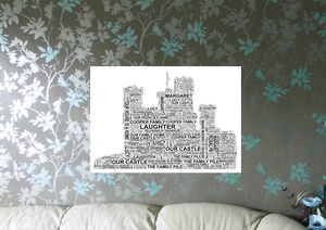 Personalised Castle Print Word Art