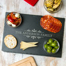 Personalised Christmas Table Cheese / Chopping Board