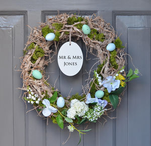 Personalised Wedding Wreath - outdoor decorations