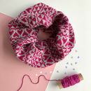 Ladies Lambswool Snood With Heart Pattern