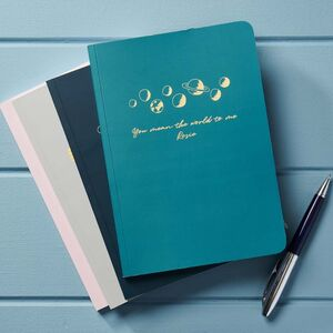 Personalised 'You Mean The World To Me' Notebook
