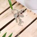 Personalised Horse Keyring With Engraved Charm