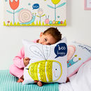 Children's Personalised Pastel Bee Happy Cushion