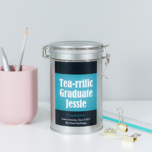 Graduation Tea Gift Tin Personalised
