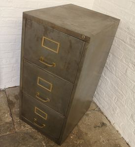 Angela Reclaimed Distressed Three Drawer Filing Cabinet - cabinets