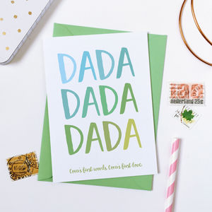 Personalised First Words Father's Day Card - summer sale