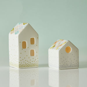 House Shaped Tea Light Holders - tableware