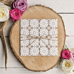 Ivy Intricate Laser Cut Wedding Invitation - invitations
