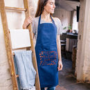 Personalised Botanical Pocket Apron