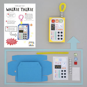 Make Your Own Walkie Talkie Kit - creative activities