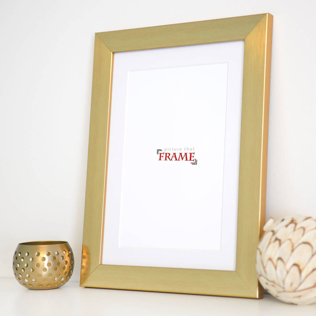 a4 gold frame by picture that frame | notonthehighstreet.com