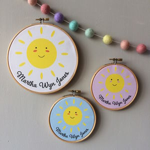 Personalised New Baby Hoop - door plaques & signs