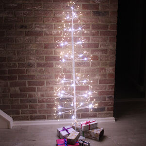 White Birch Christmas Tree With Copper Wire LED 'S