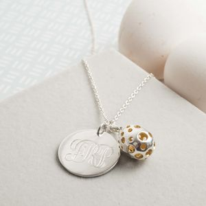 Personalised Sterling Silver Initial Disc Pendant