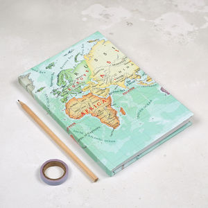 You Are My World Personalised Map Notebook For Her - personalised mother's day gifts