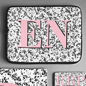 Speckle Print Monogram Laptop Case