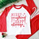 Merry Everything Kid's Christmas Pyjamas