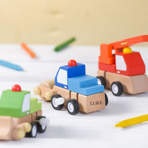 Personalised Wind Up Truck Toy - new in baby & child